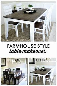 Farmhouse, Table, Makeover
