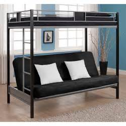 silver screen twin over futon bunk bed black gunmetal