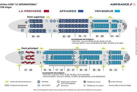 plan siege a380 air plan de cabine du airbus a380 d 39 air