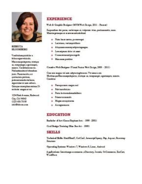 Resume With Picture by Chronological Resume Definition Format Layout 103