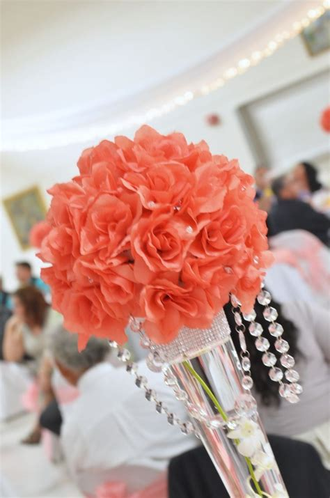 coral colored wedding centerpieces coral wedding ideas coral wedding dresses