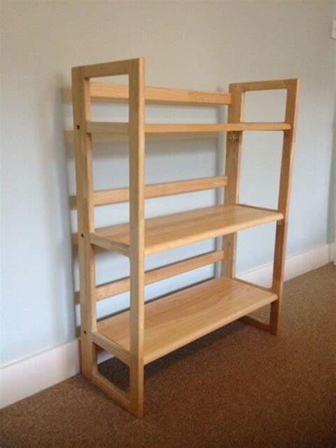 Folding Wood Bookcase by Folding Shelves Bookcase Light Wood Lewis In