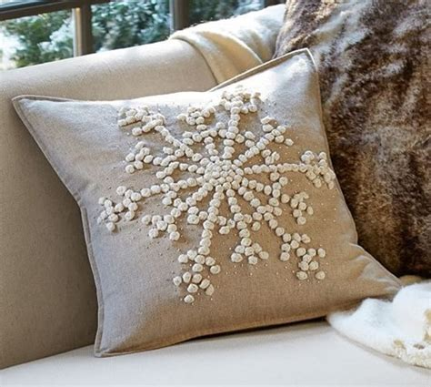 Pillows At Pottery Barn knockoff pottery barn snowflake embroidered pillow sweet pea