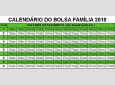 CALENDÁRIO BOLSA FAMÍLIA 2018 ←【VEJA AS DATAS AQUI!!】