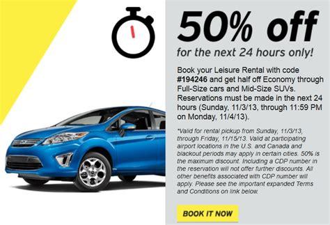 Save 50% Off Car & Suv Rentals