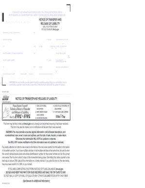 california dmv registration form 138 reg 138 notice of transfer and release of liability fill