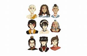 Avatar The Last Airbender Characters Vector Game