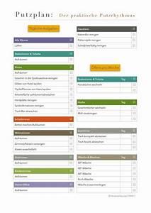 Haushalt Organisieren Plan Vorlage : putzplan der praktische putzrhythmus t glich home cleaning pinterest ~ Buech-reservation.com Haus und Dekorationen