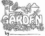 Garden Coloring Gardening Cartoon Name Fairy Template Sheets sketch template