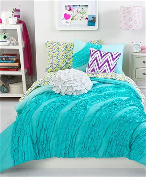 Macys Bedroom Sets by Ella Teal Ruffle Comforter Set Everything Turquoise