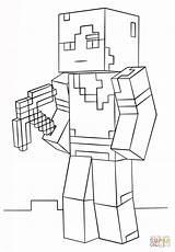 Minecraft Alex Coloring sketch template