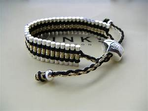 Trap cut Links of London Friendship Bracelet,black and ...