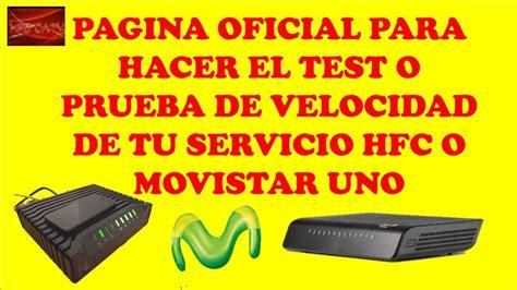 Pagina Oficial Para El Test De Velocidad Para El Servicio