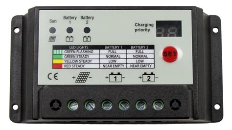 Dual Battery Solar Charge Controller Newenergyco