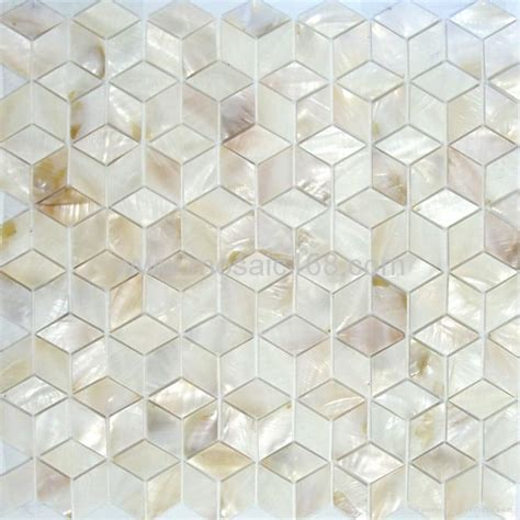 shell mosic wall tile of pearl mosaic shell veneer