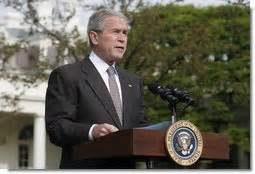 president bush discusses economic stimulus rebate checks