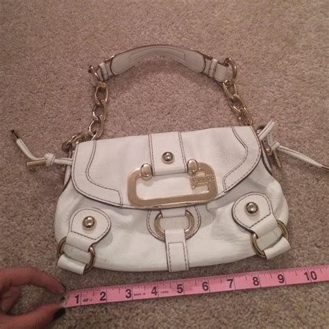 Guess 20563 Gold White 75 guess handbags hold white with gold guess