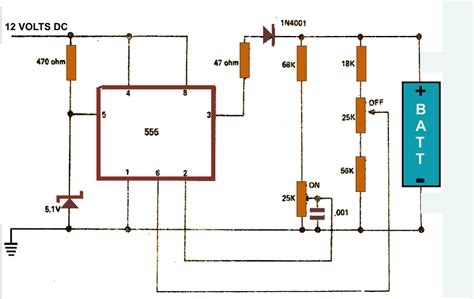 Battery Charger Circuit Diagram Using