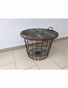 Couchtisch Schwarz Metall : couchtisch korb beistelltisch schwarz metall massivholz durchmesser 60 cm ~ Eleganceandgraceweddings.com Haus und Dekorationen