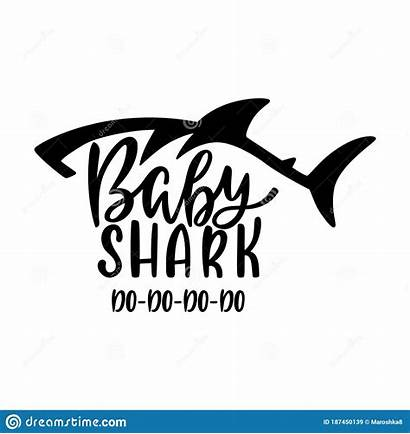 Shark Silhouette Phrase Calligraphy Inspirational Writing Quote