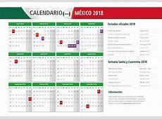 Calendario 2018 Mexico Con Feriados Para Imprimir