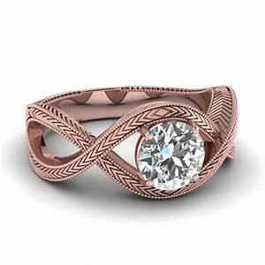 Rose gold engagement rings rose gold engagement rings for Wedding bands for solitaire engagement rings
