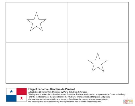Flag Of Panama Coloring Page Free Printable Coloring Pages