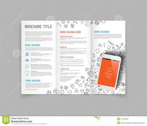 3 Fold Brochure Design Templates by Modern Vector Three Fold Brochure Design Template Stock