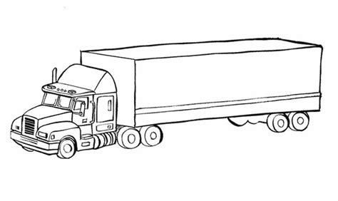 dessin  imprimer camion americain