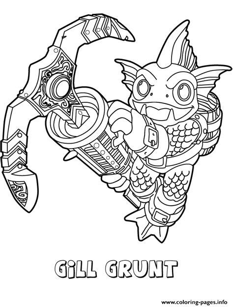 skylanders swap force water series gill grunt coloring