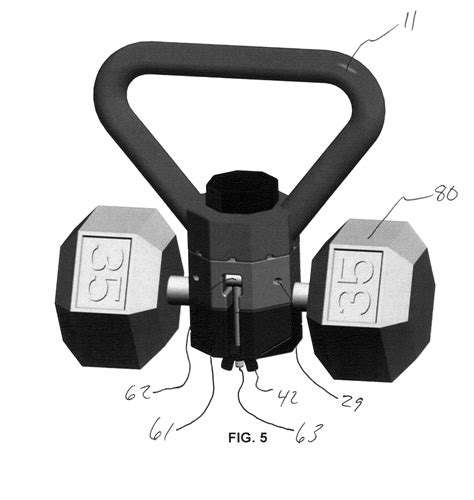 patents kettlebell handle drawing