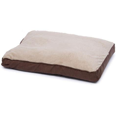 Petco Pet Beds by Petco Brown And Memory Foam Rectangular Pillow Bed