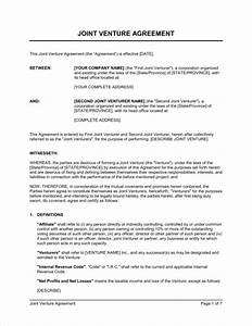 construction joint venture agreement template joint With jv agreement template free
