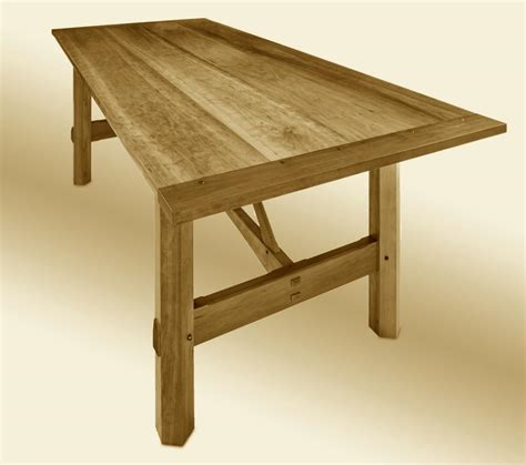 arts and crafts dining table custom farm table stauffer woodworking