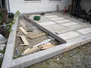 Coffrage Terrasse Beton : terrasse en bois de r cup ration thomas pierre gerard ~ Medecine-chirurgie-esthetiques.com Avis de Voitures