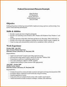 6 federal job resume examples financial statement form With federal resume template