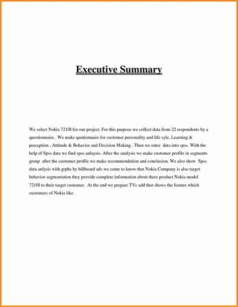 11 executive summary exles model resumed