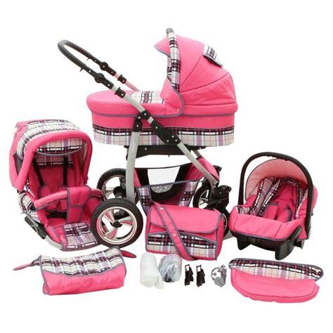 poussette siege auto bebe poussette trio color vichy fushia poussette bébé 3 en 1