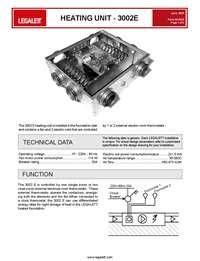 Legalett Air Heated Radiant Floor Systems Heating Unit