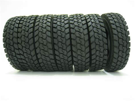 4 Pcs Rubber Tires Tyres For Tamiya 1