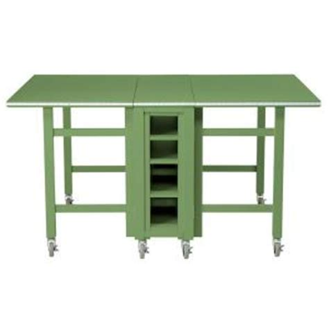 folding wood table home depot martha stewart living craft space 6 ft collapsible wood