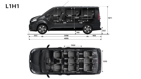renault trafic dimensions abmessungen trafic spaceclass renault