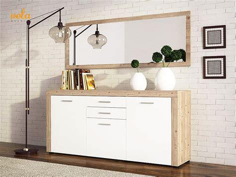 comoda recibidor blanca vintage de madera
