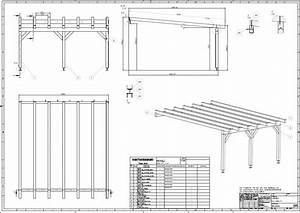 416 baupl ne bauplan pultdach carport terrassend cher for Bauplan terrassenüberdachung pdf