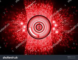 Dark Red Color Light Abstract Technology Background For ...