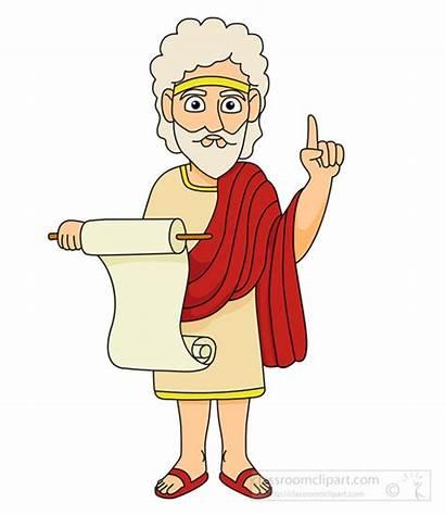 Greek Ancient Clipart Greece Clip Speech Reading