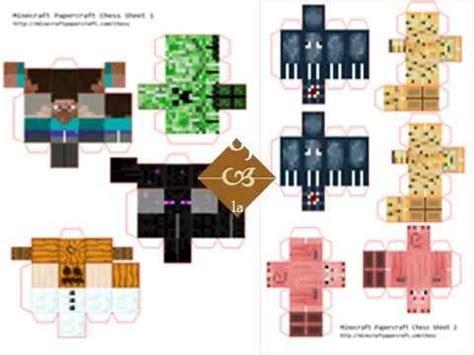 minecraft papercraft aqui en  link youtube