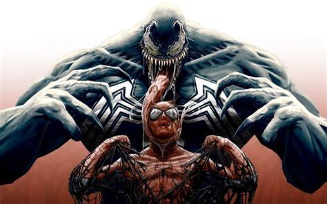 wallpaper spiderman venom monster artwork wallpapermaiden