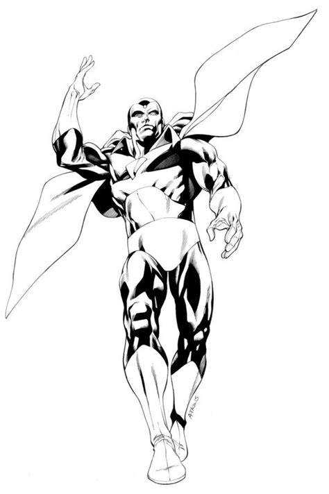 marvel avengers and vision coloring pages