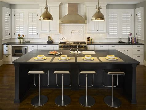 black kitchen island with seating black kitchen islands pictures ideas tips from hgtv hgtv